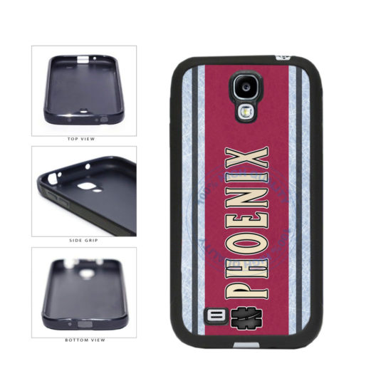 Hockey Team Hashtag Phoenix #Phoenix TPU Rubber SILICONE Phone Case Back Cover For Samsung Galaxy S4 I9500 includes BleuReign(TM) Cloth and Warranty Label