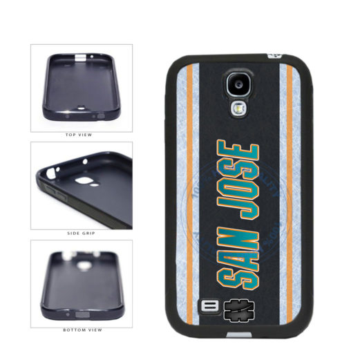 Hockey Team Hashtag San Jose #SanJose TPU Rubber SILICONE Phone Case Back Cover For Samsung Galaxy S4 I9500 includes BleuReign(TM) Cloth and Warranty Label