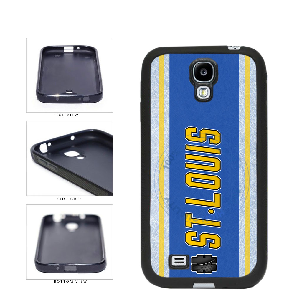 Hockey Team Hashtag St Louis #StLouis TPU Rubber SILICONE Phone Case Back Cover For Samsung Galaxy S4 I9500 includes BleuReign(TM) Cloth and Warranty Label
