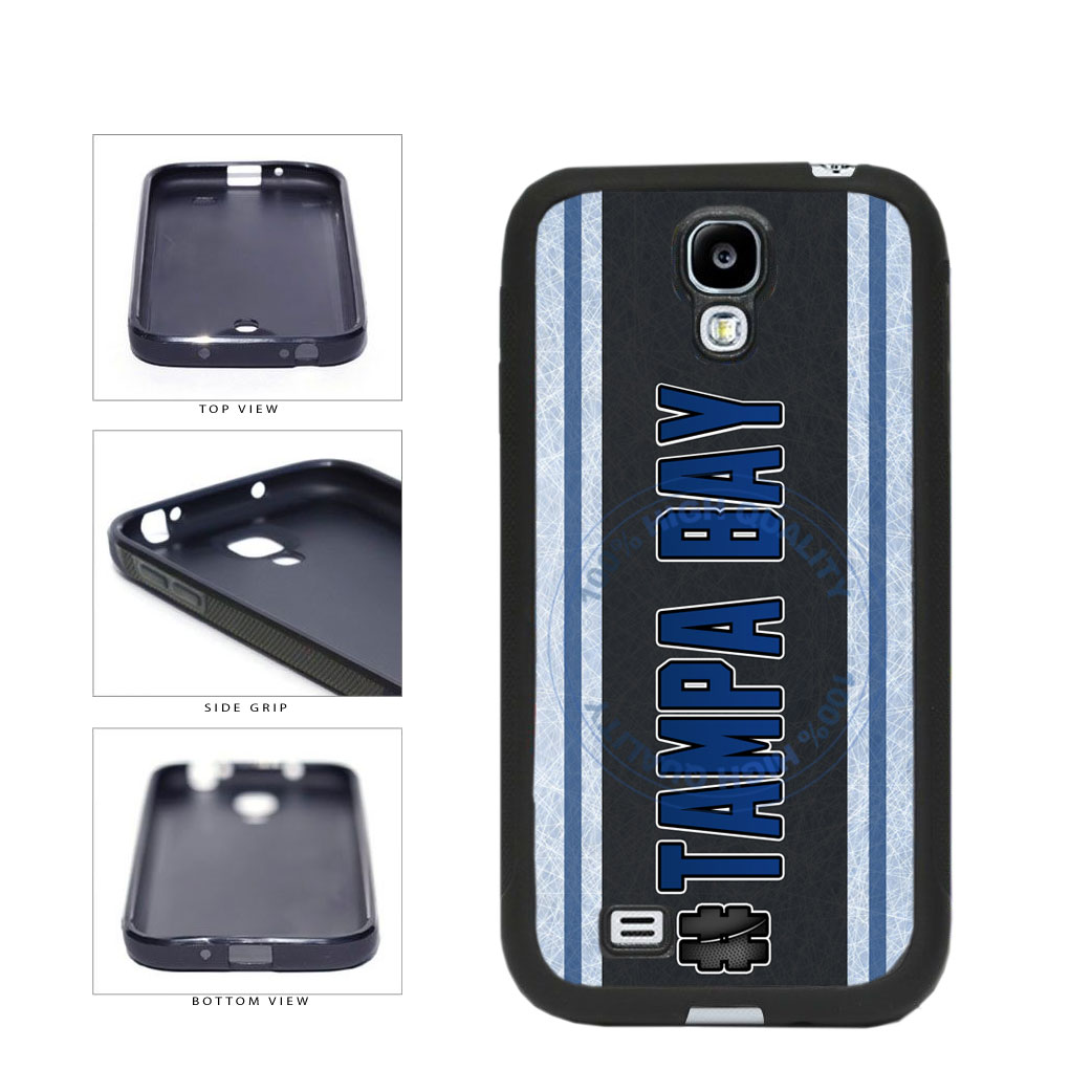 Hockey Team Hashtag Tampa Bay #TampaBay TPU Rubber SILICONE Phone Case Back Cover For Samsung Galaxy S4 I9500 includes BleuReign(TM) Cloth and Warranty Label