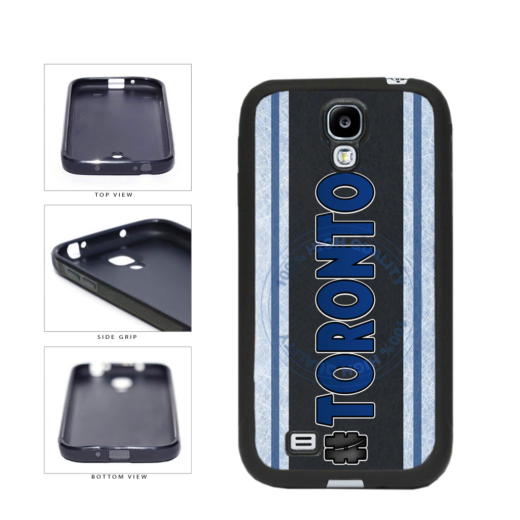 Hockey Team Hashtag Toronto #Toronto TPU Rubber SILICONE Phone Case Back Cover For Samsung Galaxy S4 I9500 includes BleuReign(TM) Cloth and Warranty Label