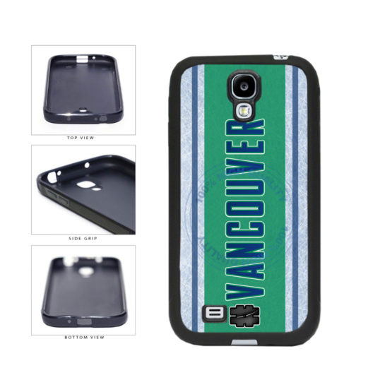 Hockey Team Hashtag Vancouver #Vancouver TPU Rubber SILICONE Phone Case Back Cover For Samsung Galaxy S4 I9500 includes BleuReign(TM) Cloth and Warranty Label
