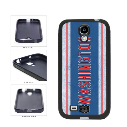 Hockey Team Hashtag Washington #Washington TPU Rubber SILICONE Phone Case Back Cover For Samsung Galaxy S4 I9500 includes BleuReign(TM) Cloth and Warranty Label