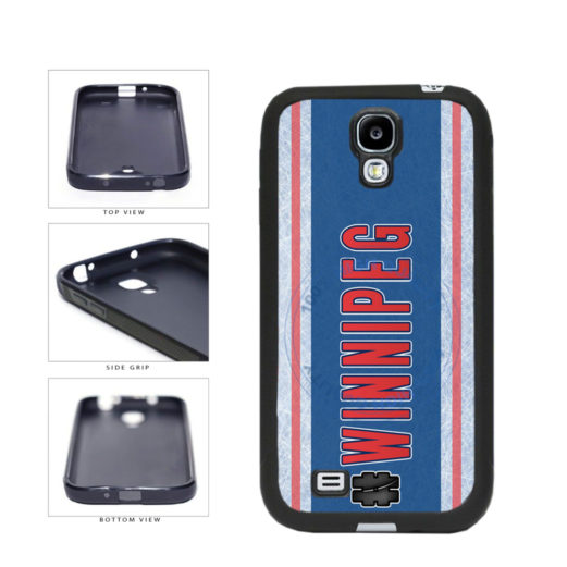 Hockey Team Hashtag Winnipeg #Winnipeg TPU Rubber SILICONE Phone Case Back Cover For Samsung Galaxy S4 I9500 includes BleuReign(TM) Cloth and Warranty Label