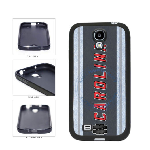 Hockey Team Hashtag Carolina #Carolina TPU Rubber SILICONE Phone Case Back Cover For Samsung Galaxy S4 I9500 includes BleuReign(TM) Cloth and Warranty Label