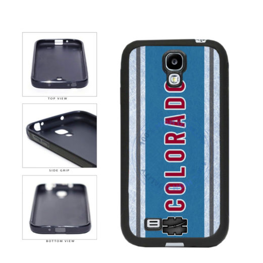 Hockey Team Hashtag Colorado #Colorado TPU Rubber SILICONE Phone Case Back Cover For Samsung Galaxy S4 I9500 includes BleuReign(TM) Cloth and Warranty Label
