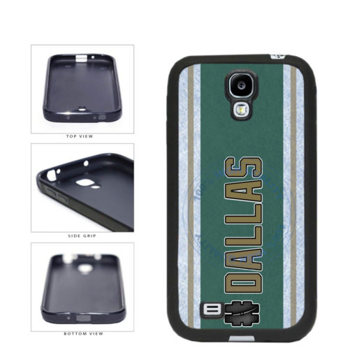 Hockey Team Hashtag Dallas #Dallas TPU Rubber SILICONE Phone Case Back Cover For Samsung Galaxy S4 I9500 includes BleuReign(TM) Cloth and Warranty Label