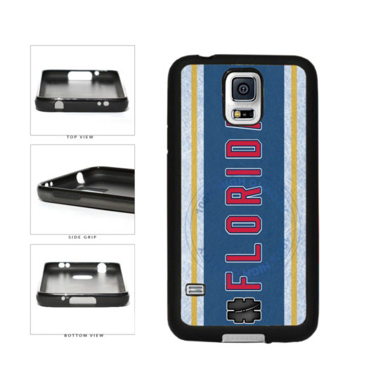 Hockey Team Hashtag Florida #Florida TPU Rubber SILICONE Phone Case Back Cover For Samsung Galaxy S5 I9600 includes BleuReign(TM) Cloth and Warranty Label