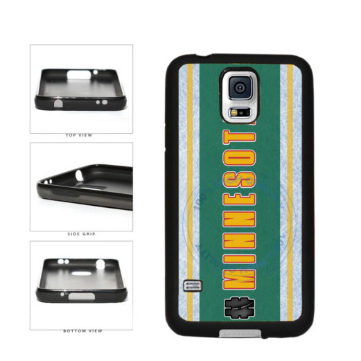 Hockey Team Hashtag Minnesota #Minnesota TPU Rubber SILICONE Phone Case Back Cover For Samsung Galaxy S5 I9600 includes BleuReign(TM) Cloth and Warranty Label