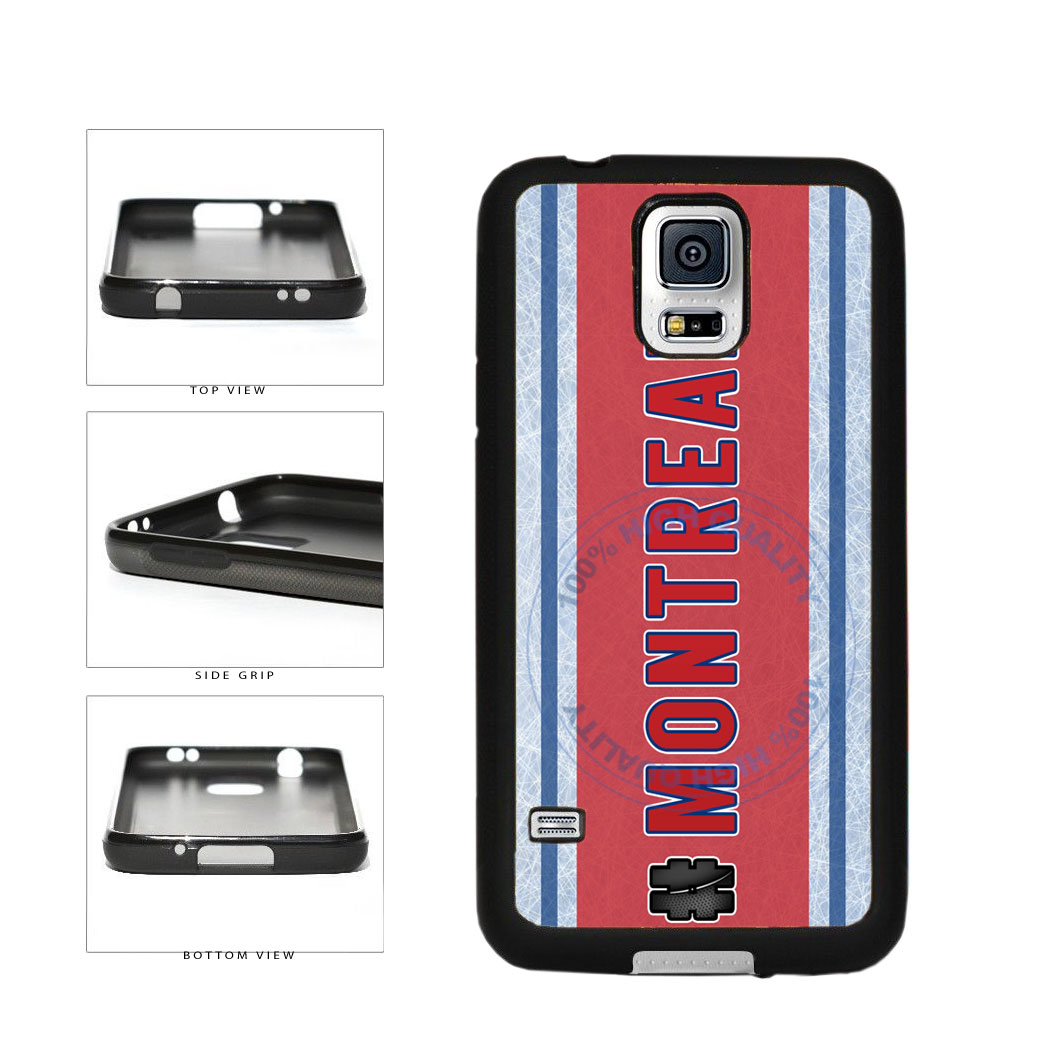Hockey Team Hashtag Montreal #Montreal TPU Rubber SILICONE Phone Case Back Cover For Samsung Galaxy S5 I9600 includes BleuReign(TM) Cloth and Warranty Label