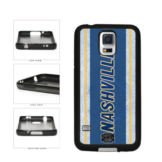 Hockey Team Hashtag Nashville #Nashville TPU Rubber SILICONE Phone Case Back Cover For Samsung Galaxy S5 I9600 includes BleuReign(TM) Cloth and Warranty Label