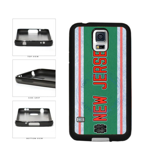 Hockey Team Hashtag New Jersey #NewJersey TPU Rubber SILICONE Phone Case Back Cover For Samsung Galaxy S5 I9600 includes BleuReign(TM) Cloth and Warranty Label