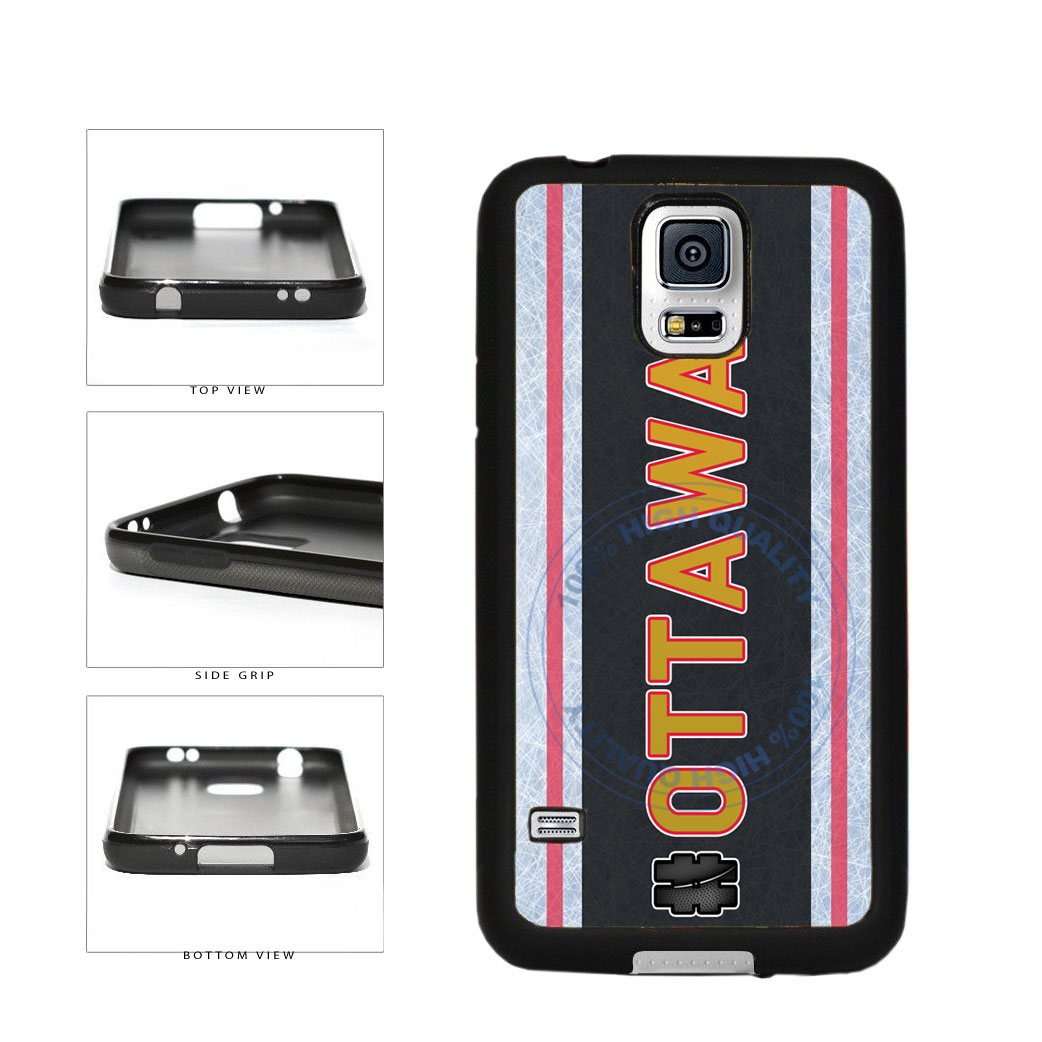Hockey Team Hashtag Ottawa #Ottawa TPU Rubber SILICONE Phone Case Back Cover For Samsung Galaxy S5 I9600 includes BleuReign(TM) Cloth and Warranty Label