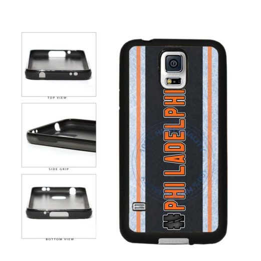 Hockey Team Hashtag Philadelphia #Philadelphia TPU Rubber SILICONE Phone Case Back Cover For Samsung Galaxy S5 I9600 includes BleuReign(TM) Cloth and Warranty Label