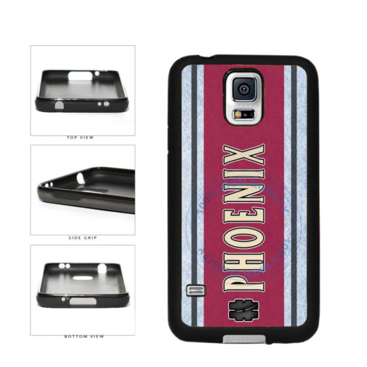 Hockey Team Hashtag Phoenix #Phoenix TPU Rubber SILICONE Phone Case Back Cover For Samsung Galaxy S5 I9600 includes BleuReign(TM) Cloth and Warranty Label