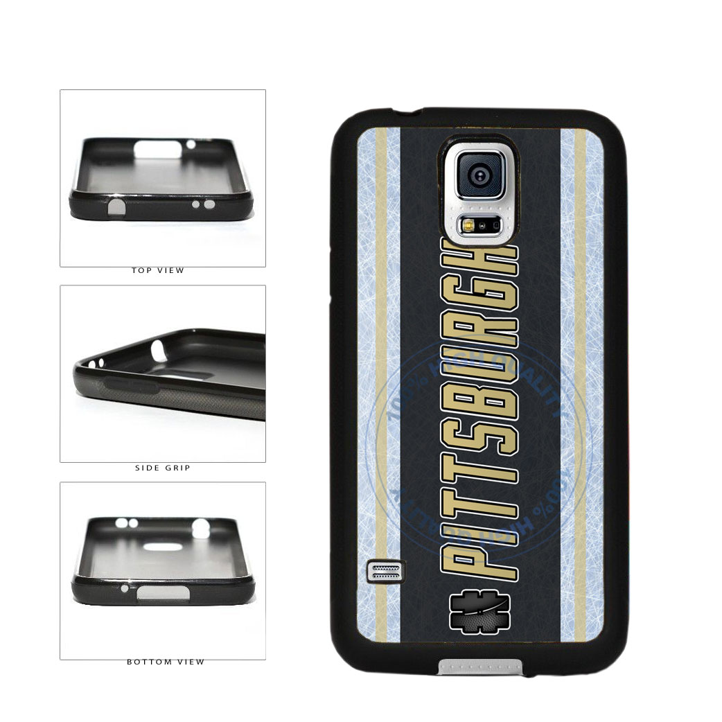 Hockey Team Hashtag Pittsburgh #Pittsburgh TPU Rubber SILICONE Phone Case Back Cover For Samsung Galaxy S5 I9600 includes BleuReign(TM) Cloth and Warranty Label