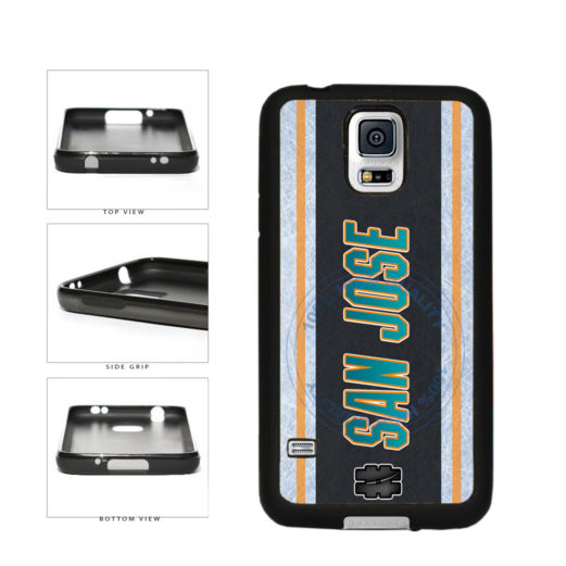 Hockey Team Hashtag San Jose #SanJose TPU Rubber SILICONE Phone Case Back Cover For Samsung Galaxy S5 I9600 includes BleuReign(TM) Cloth and Warranty Label