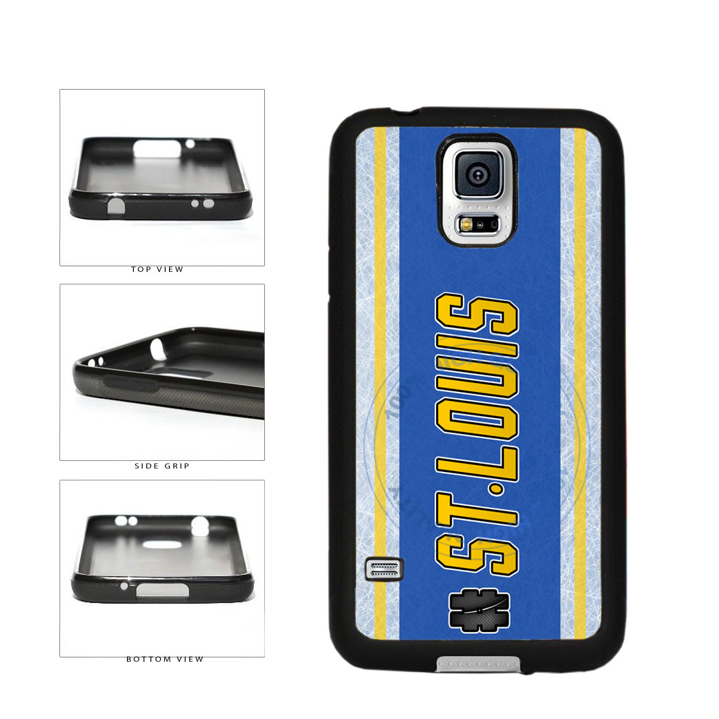 Hockey Team Hashtag St Louis #StLouis TPU Rubber SILICONE Phone Case Back Cover For Samsung Galaxy S5 I9600 includes BleuReign(TM) Cloth and Warranty Label