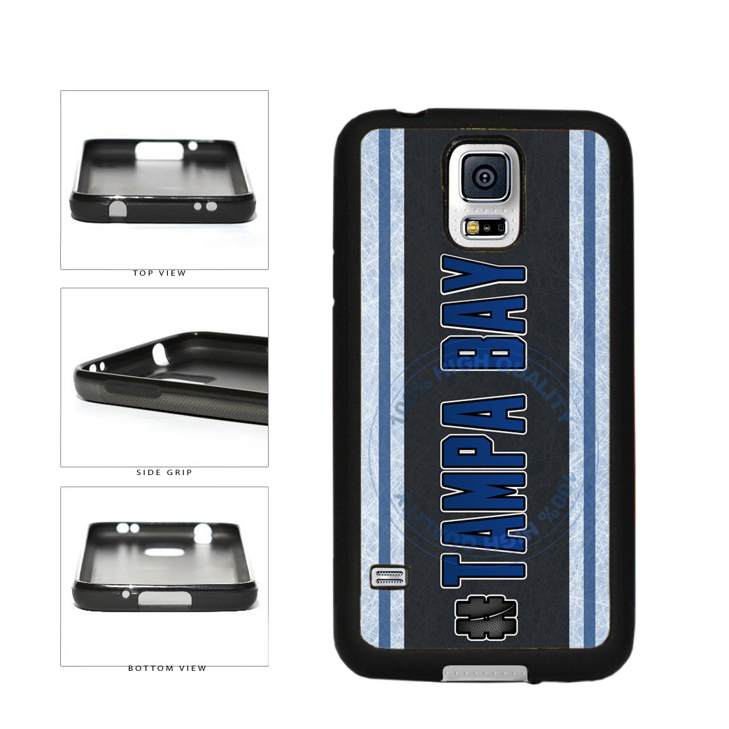 Hockey Team Hashtag Tampa Bay #TampaBay TPU Rubber SILICONE Phone Case Back Cover For Samsung Galaxy S5 I9600 includes BleuReign(TM) Cloth and Warranty Label