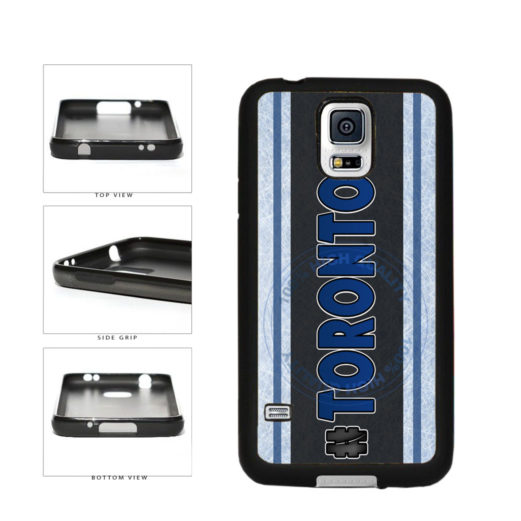 Hockey Team Hashtag Toronto #Toronto TPU Rubber SILICONE Phone Case Back Cover For Samsung Galaxy S5 I9600 includes BleuReign(TM) Cloth and Warranty Label