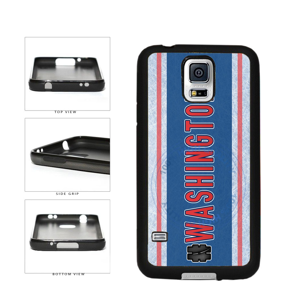 Hockey Team Hashtag Washington #Washington TPU Rubber SILICONE Phone Case Back Cover For Samsung Galaxy S5 I9600 includes BleuReign(TM) Cloth and Warranty Label
