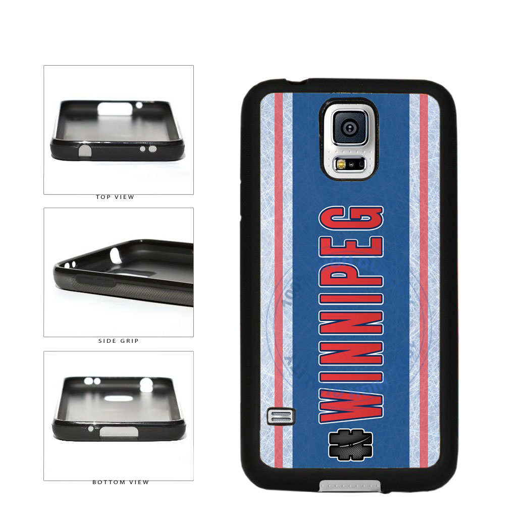 Hockey Team Hashtag Winnipeg #Winnipeg TPU Rubber SILICONE Phone Case Back Cover For Samsung Galaxy S5 I9600 includes BleuReign(TM) Cloth and Warranty Label
