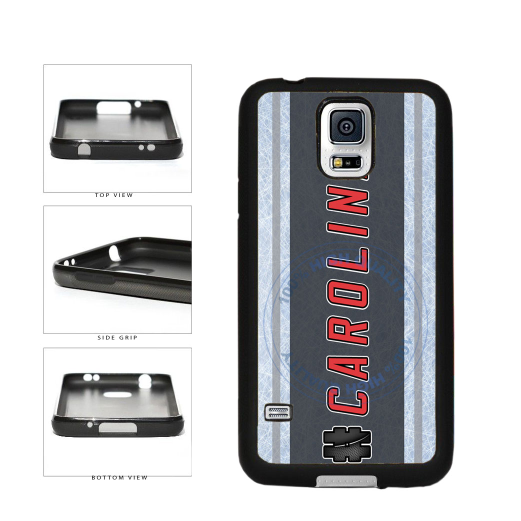 Hockey Team Hashtag Carolina #Carolina TPU Rubber SILICONE Phone Case Back Cover For Samsung Galaxy S5 I9600 includes BleuReign(TM) Cloth and Warranty Label