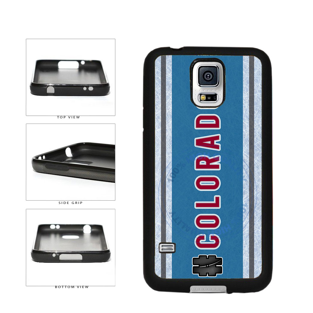 Hockey Team Hashtag Colorado #Colorado TPU Rubber SILICONE Phone Case Back Cover For Samsung Galaxy S5 I9600 includes BleuReign(TM) Cloth and Warranty Label