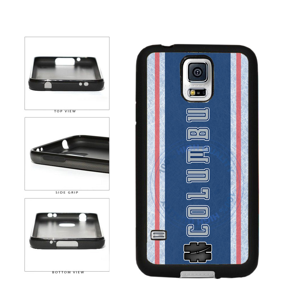 Hockey Team Hashtag Columbus #Columbus TPU Rubber SILICONE Phone Case Back Cover For Samsung Galaxy S5 I9600 includes BleuReign(TM) Cloth and Warranty Label