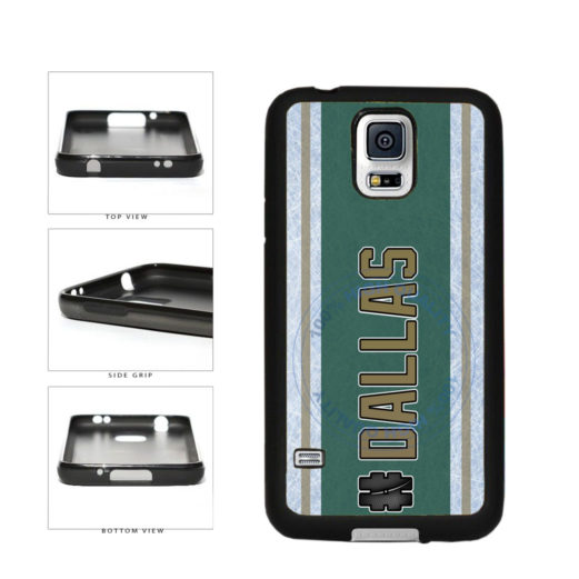Hockey Team Hashtag Dallas #Dallas TPU Rubber SILICONE Phone Case Back Cover For Samsung Galaxy S5 I9600 includes BleuReign(TM) Cloth and Warranty Label