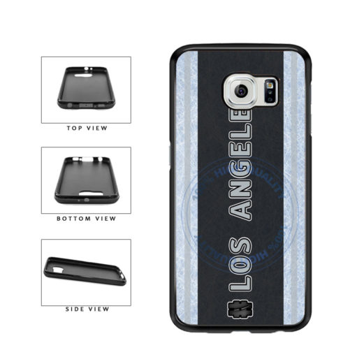 Hockey Team Hashtag Los Angeles #LosAngeles TPU Rubber SILICONE Phone Case Back Cover For Samsung Galaxy S6 Edge G925 includes BleuReign(TM) Cloth and Warranty Label