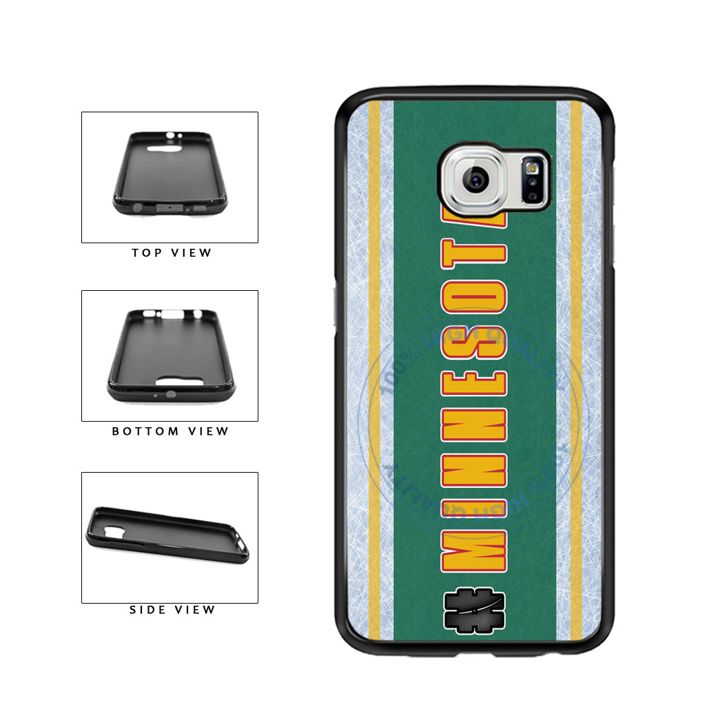 Hockey Team Hashtag Minnesota #Minnesota TPU Rubber SILICONE Phone Case Back Cover For Samsung Galaxy S6 Edge G925 includes BleuReign(TM) Cloth and Warranty Label
