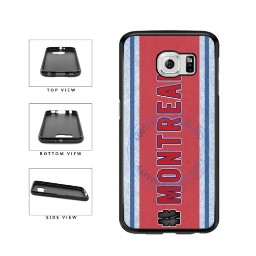 Hockey Team Hashtag Montreal #Montreal TPU Rubber SILICONE Phone Case Back Cover For Samsung Galaxy S6 Edge G925 includes BleuReign(TM) Cloth and Warranty Label
