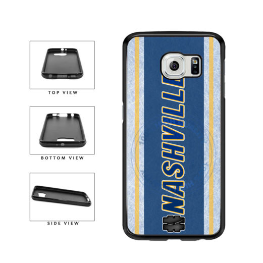 Hockey Team Hashtag Nashville #Nashville TPU Rubber SILICONE Phone Case Back Cover For Samsung Galaxy S6 Edge G925 includes BleuReign(TM) Cloth and Warranty Label