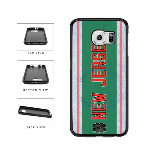 Hockey Team Hashtag New Jersey #NewJersey TPU Rubber SILICONE Phone Case Back Cover For Samsung Galaxy S6 Edge G925 includes BleuReign(TM) Cloth and Warranty Label