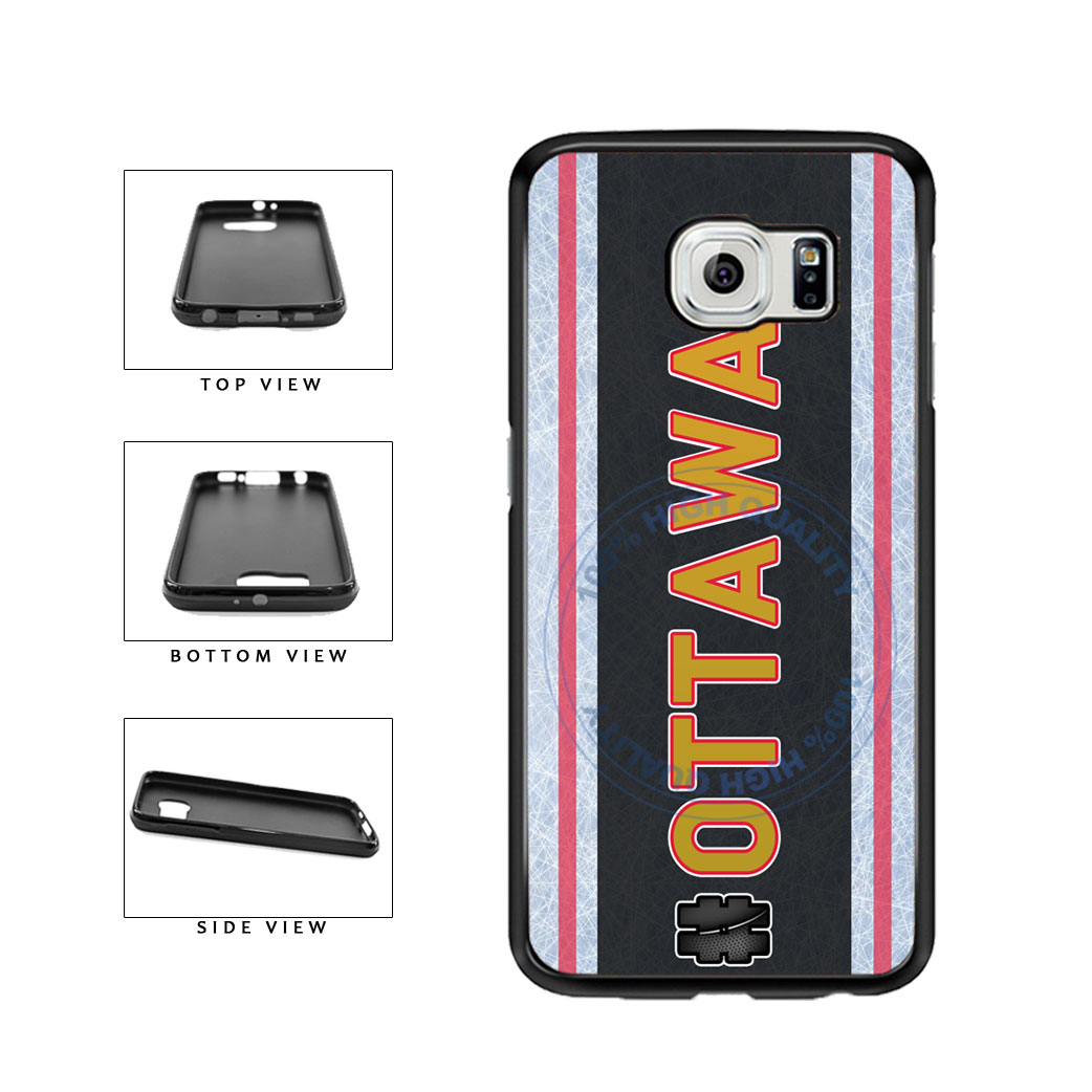 Hockey Team Hashtag Ottawa #Ottawa TPU Rubber SILICONE Phone Case Back Cover For Samsung Galaxy S6 Edge G925 includes BleuReign(TM) Cloth and Warranty Label