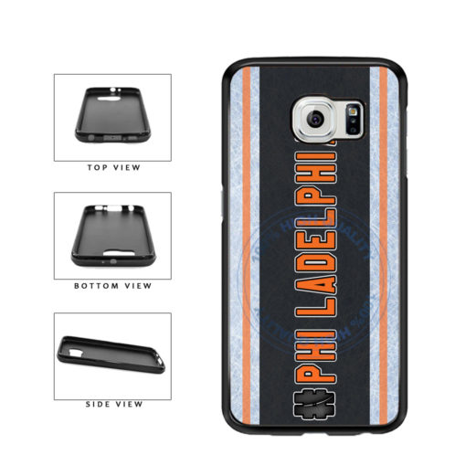 Hockey Team Hashtag Philadelphia #Philadelphia TPU Rubber SILICONE Phone Case Back Cover For Samsung Galaxy S6 Edge G925 includes BleuReign(TM) Cloth and Warranty Label
