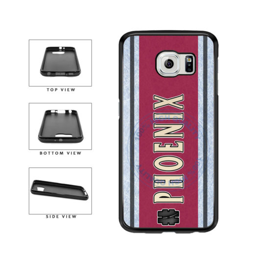 Hockey Team Hashtag Phoenix #Phoenix TPU Rubber SILICONE Phone Case Back Cover For Samsung Galaxy S6 Edge G925 includes BleuReign(TM) Cloth and Warranty Label