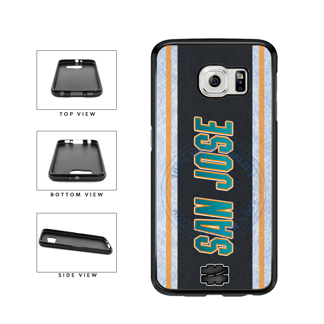 Hockey Team Hashtag San Jose #SanJose TPU Rubber SILICONE Phone Case Back Cover For Samsung Galaxy S6 Edge G925 includes BleuReign(TM) Cloth and Warranty Label
