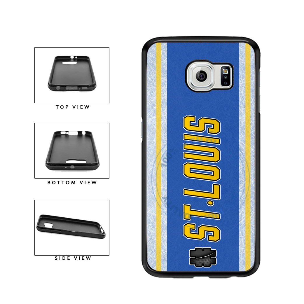 Hockey Team Hashtag St Louis #StLouis TPU Rubber SILICONE Phone Case Back Cover For Samsung Galaxy S6 Edge G925 includes BleuReign(TM) Cloth and Warranty Label