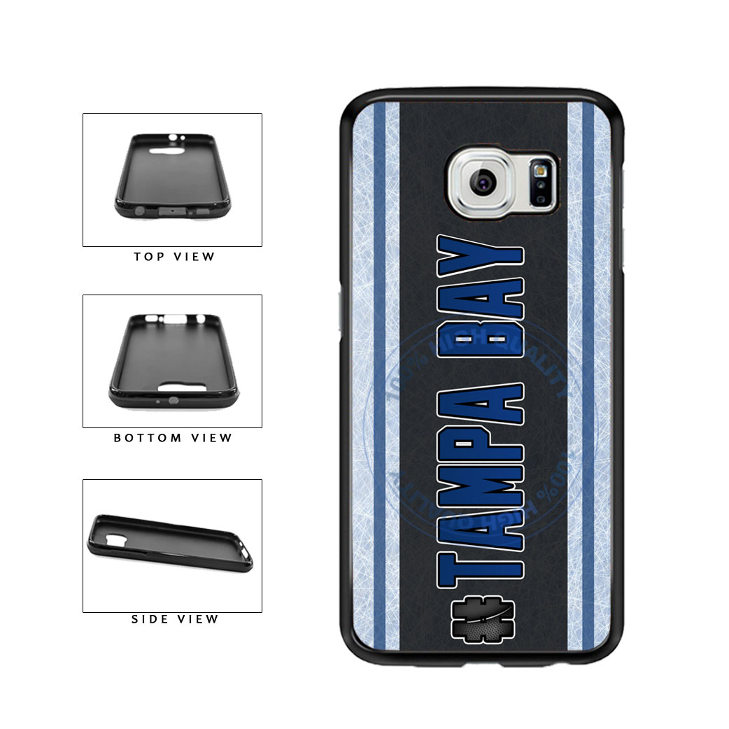 Hockey Team Hashtag Tampa Bay #TampaBay TPU Rubber SILICONE Phone Case Back Cover For Samsung Galaxy S6 Edge G925 includes BleuReign(TM) Cloth and Warranty Label