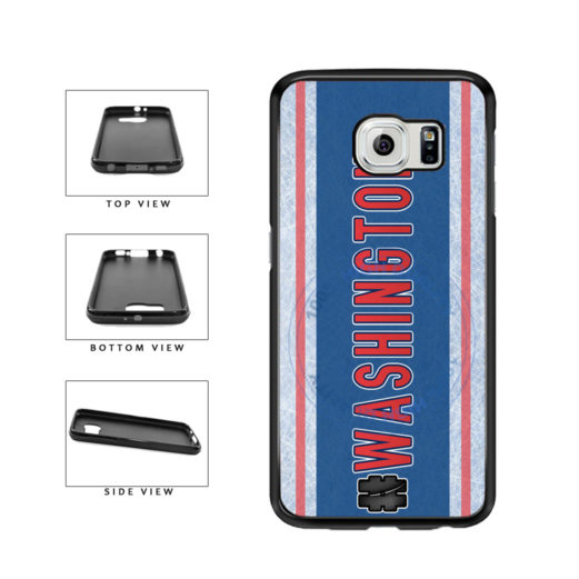 Hockey Team Hashtag Washington #Washington TPU Rubber SILICONE Phone Case Back Cover For Samsung Galaxy S6 Edge G925 includes BleuReign(TM) Cloth and Warranty Label