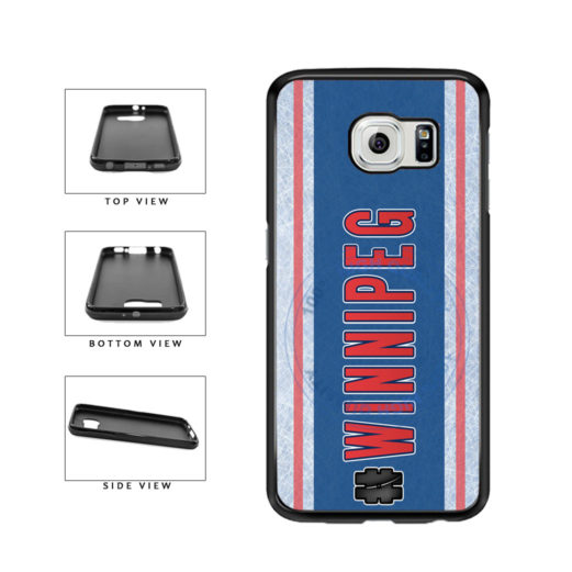 Hockey Team Hashtag Winnipeg #Winnipeg TPU Rubber SILICONE Phone Case Back Cover For Samsung Galaxy S6 Edge G925 includes BleuReign(TM) Cloth and Warranty Label