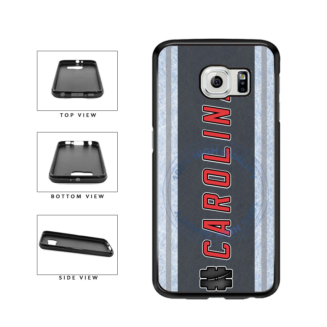 Hockey Team Hashtag Carolina #Carolina TPU Rubber SILICONE Phone Case Back Cover For Samsung Galaxy S6 Edge G925 includes BleuReign(TM) Cloth and Warranty Label
