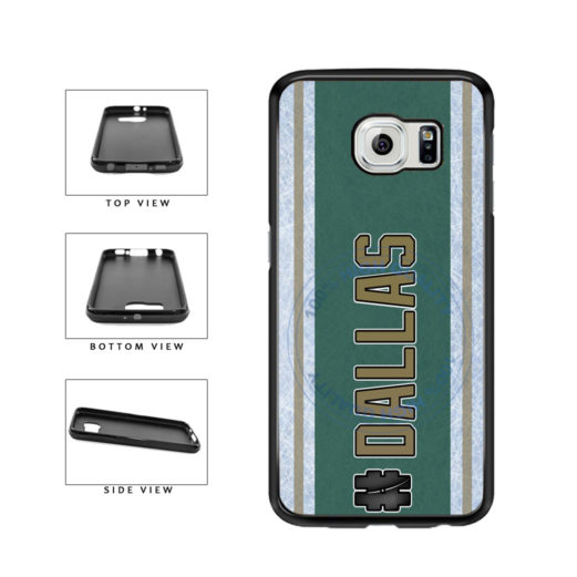 Hockey Team Hashtag Dallas #Dallas TPU Rubber SILICONE Phone Case Back Cover For Samsung Galaxy S6 Edge G925 includes BleuReign(TM) Cloth and Warranty Label