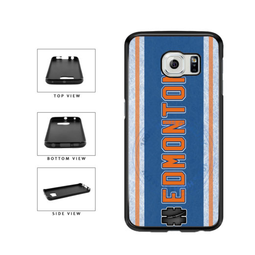 Hockey Team Hashtag Edmonton #Edmonton TPU Rubber SILICONE Phone Case Back Cover For Samsung Galaxy S6 G920 includes BleuReign(TM) Cloth and Warranty Label