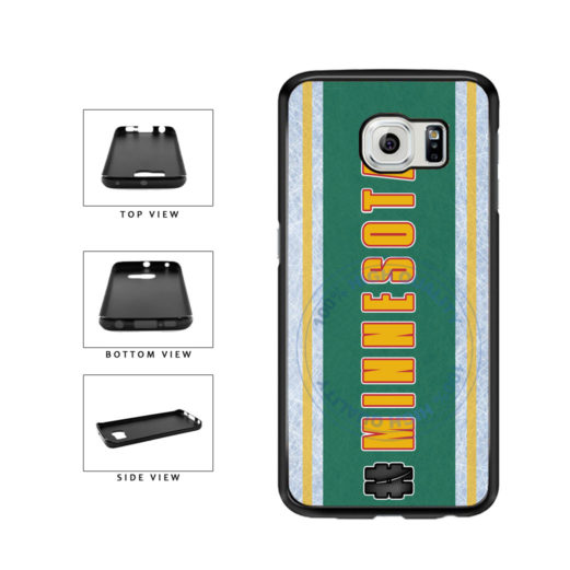 Hockey Team Hashtag Minnesota #Minnesota TPU Rubber SILICONE Phone Case Back Cover For Samsung Galaxy S6 G920 includes BleuReign(TM) Cloth and Warranty Label