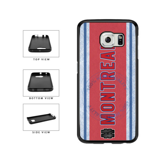 Hockey Team Hashtag Montreal #Montreal TPU Rubber SILICONE Phone Case Back Cover For Samsung Galaxy S6 G920 includes BleuReign(TM) Cloth and Warranty Label