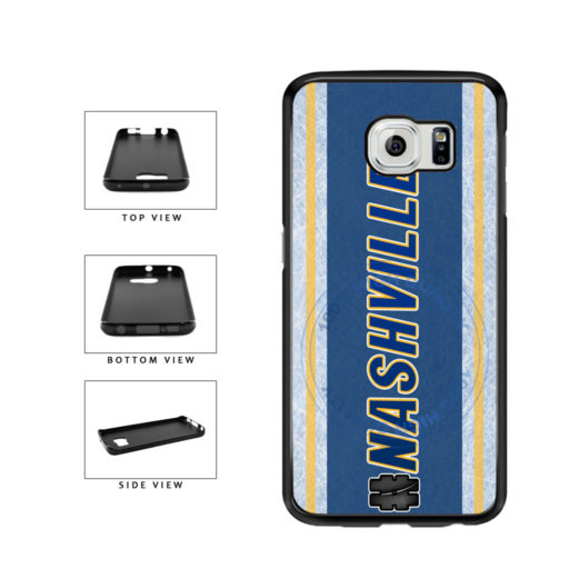 Hockey Team Hashtag Nashville #Nashville TPU Rubber SILICONE Phone Case Back Cover For Samsung Galaxy S6 G920 includes BleuReign(TM) Cloth and Warranty Label
