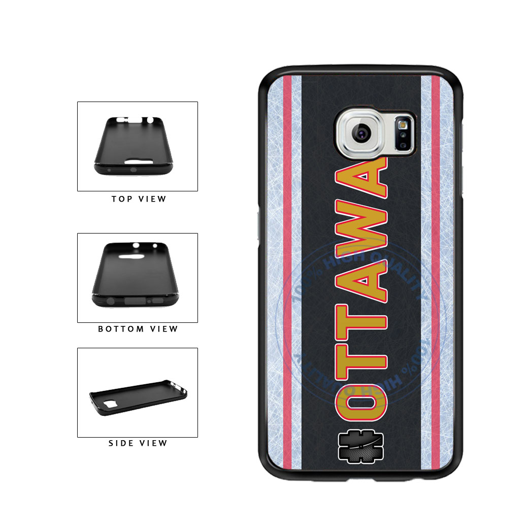 Hockey Team Hashtag Ottawa #Ottawa TPU Rubber SILICONE Phone Case Back Cover For Samsung Galaxy S6 G920 includes BleuReign(TM) Cloth and Warranty Label